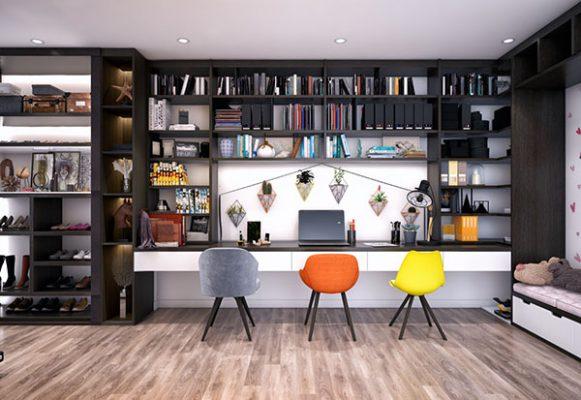 Thiết kế nổi bật và tươi mới của phòng làm việc