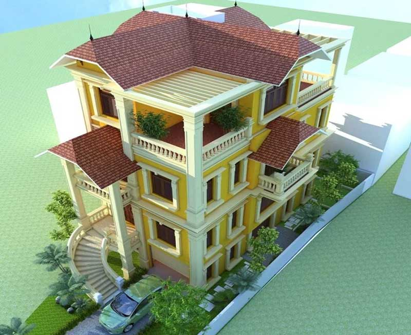 Thiết kế Biệt thự pháp cổ anh Việt Ba Đình Hà Nội