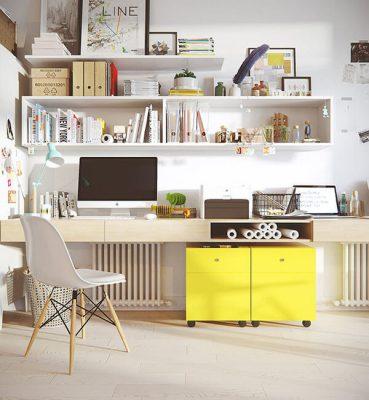 Thiết kế nội thất phòng làm việc tại nhà thông minh và khoa học