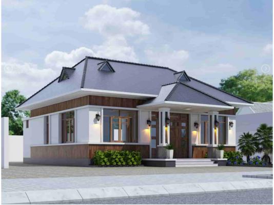 Thiết kế nhà cấp 4 cô Xuân Thái Bình