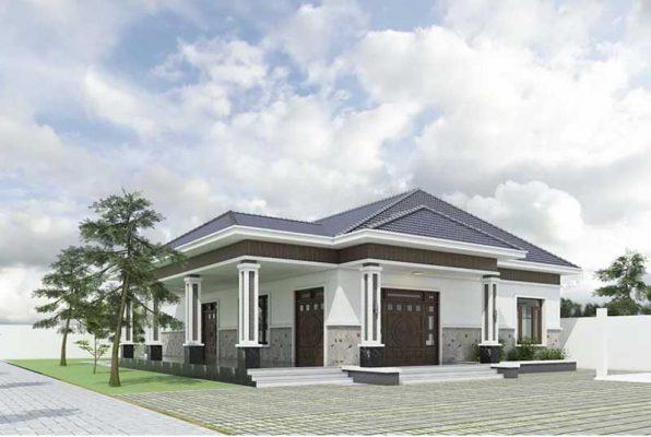 Mẫu thiết kế nhà vườn cấp 4 tại Thái Nguyên