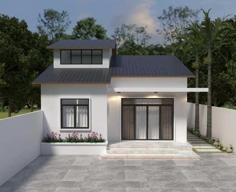 Thiết kế nhà cấp 4 mái dốc tại Sóc Sơn Hà Nội