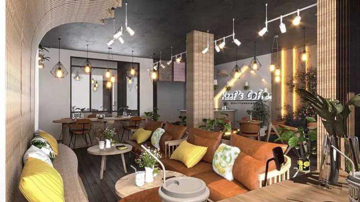 Mẫu nội thất quán cà phê tại Hà Đông Hà Nội