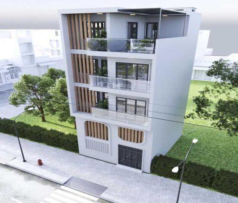 Thiết kế thi công nhà phố hiện đại Sóc Sơn Hà Nội