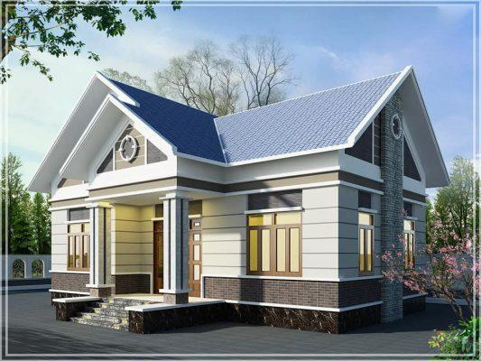 Thiết kế nhà cấp 4 mái thái anh Phương tại Thanh Ba - Phú Thọ