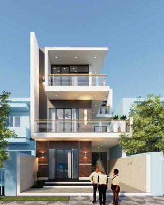 Thiết kế nhà phố 3 tầng chị Vân Anh tại TP Hải Dương