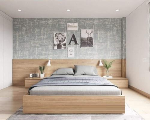 Giường ngủ gỗ MDF hiện đại trẻ trung