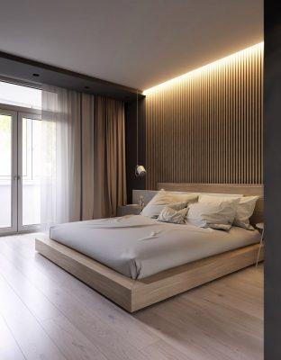 Giường ngủ gỗ công nghiệp MDF đẹp, hiện đại tại Vĩnh Phúc