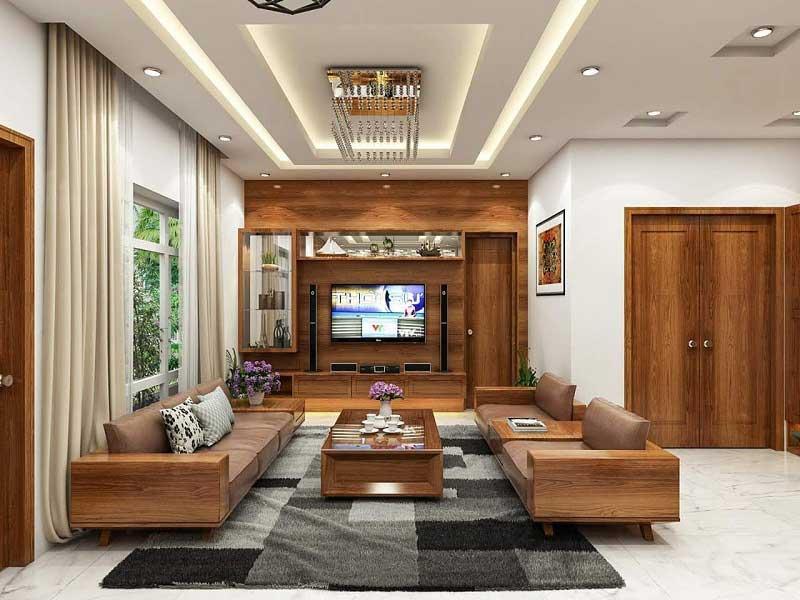 Nội thất gỗ công nghiệp phòng khách tại Vĩnh Phúc