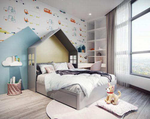 Nội thất giường ngủ cho bé gỗ công nghiệp