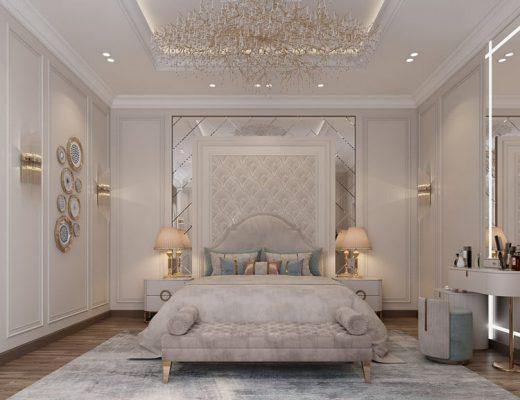 Giường ngủ gỗ MDF sang trọng