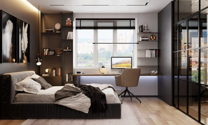 Thiết kế nội thất phòng ngủ gỗ công nghiệp MDF An Cường tại Vĩnh Phúc