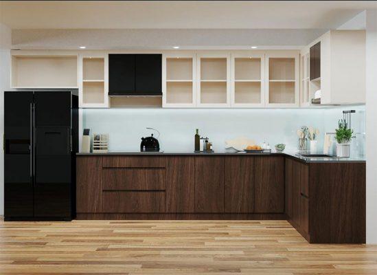 Nội thất gỗ công công nghiệp cho phòng bếp đẹp