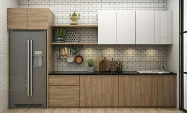 Mẫu tủ bếp đơn giản
